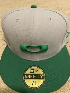 New Oakley New Era Hat 7 5/8 59fifty Style Green And Gray