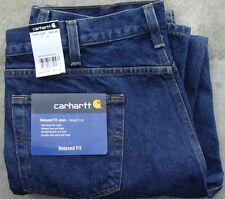 CARHARTT B460 RELAXED STRAIGHT LEG JEANS 34x32 - DARK VINTAGE BLUE