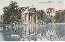 BF17464 roma villa umberto giardini del lago templetto italy front/back image