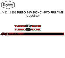 Ford  Laser TX3 TURBO 16V  DOHC decal set