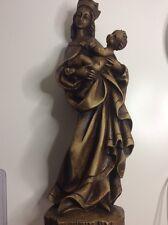 Madonnen Figur Mit Kind  / gegossen / 34,5 cm