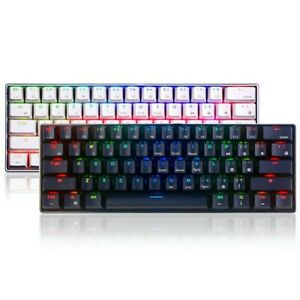 Geek GK61 61 Keys Mechanical Gaming Keyboard Hot Swappable Gateron OpticalSwitch