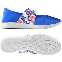 premium selection e3463 915a1 adidas Damen Ballerinas Glanz Sandalen Schuhe Slipper Shoes Satin  blau weiss NEU