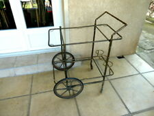 TABLE DESSERTE BAR ROULANT Trolley VINTAGE 50s Bambou laiton bronze Dlg Adnet