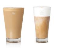 Illy set of 6 Latte Macchiato Ice Coffee Caffe Glass Cups Mug - 10 oz / 300 ml