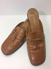 Enzo Angiolini Hepburn Womens Leather Mules Slip Ons Size 7.5M Brown