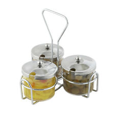 Winco Wh-4, Chrome Wire Holder for 3 Condiment Jars