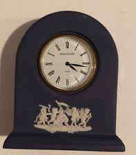 Gorgeous Vintage NOS Wedgwood Cherub Grecian Design White/Blue Clock (C)