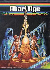 Original 1982 Atari Age Club Video Game Magazine Vol 1 # 3 SwordQuest 3rd Issue