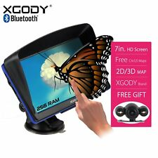 """XGODY 7"""" Touch Screen Car Truck Bluetooth GPS  with Wired Reverse Backup Camera"""
