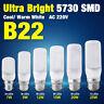 220V 5730 LED Corn Bulb Cool/Warm Milky White B22 Base Lamp 7/9/12/15/20/25W 4B