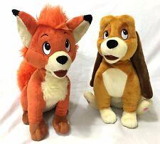"Disney Store Exclusive The Fox And The Hound Todd Copper Stuffed Plush RARE 14"""