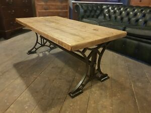 Vintage rustic industrial metal Queensboro Coffee table