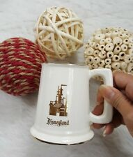 VTG DISNEY Disneyland Coffee Mug Cup Castle with Gold Rim