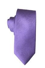 """Calvin Klein Mens Purple 100% Silk Mini Skin Allover 3"""" Neck Tie O/S"""