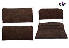 Blague à tabac - carnet simple - poche zip carnet double 15,7 x 8 cm - Marron