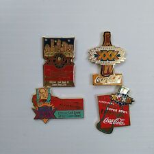 Coca-Cola & Super Bowl Pins (Set of 4) - FREE SHIPPING