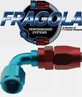 Fragola 229006 6 AN Aluminum 90 Degree Socket Style Hose Fitting IMCA USRA NHRA