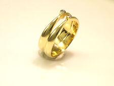 585 Gold, Ring, Gr. 58, 14 Karat ,Gelbgold, mit 2 echten Diamanten