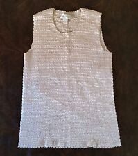 344739ea4ea Dress Barn Woman Tank Top Size 22-24 Gold Stretch Texture Fabric Sleeveless