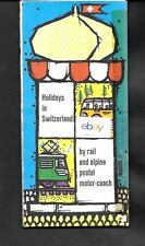 SWISS RAILROADS 1948 MAP & BROCHURE HOLIDAYS IN SWITZERLAND RAIL & MOTOR COACH