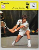 "Jimmy Connors 1977 Tennis Sportscaster 6.25"" Card 01-18 The Two Fisted Champion"