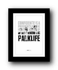 More details for blur parklife  ❤  song lyrics typography poster art print