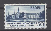 Franz. Zone Baden Mi.Nr. 46 I, Konstanz 1949 mit der Abart II ** (29318)