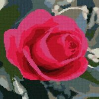 Rose Needlepoint Canvas (Floral/Flower/Nature)