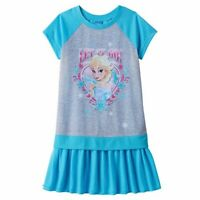 Disney FROZEN Elsa Nightgown Girl's Size 6-8-10/12 Pajamas Princess Tutu NEW NWT