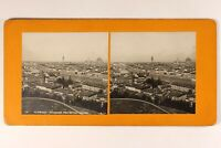 Italia Florence Panorama c1900 Foto Stereo Vintage Analogica