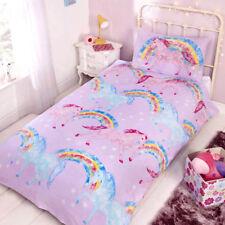UNICORNS RAINBOW SINGLE DUVET COVER BEDDING SET GIRLS KIDS BEDROOM NEW XMAS GIFT