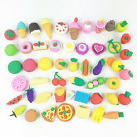 8pcs Novelty Food Fruit Vegetable Erasers Rubbers Gift Party Bag Gift Fillers