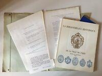 Biblioteca Historia de La Ciudad De París Hotel Lamoignon Drager 1969