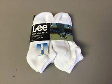 NWT Men's Lee Cotton Coolmax Anklet Socks Shoe Size 6-12 White 6 Pair #621R
