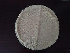 "Crochet 18"" Round Ecru Color Cushion Cover Handmade"