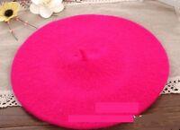 Vintage Unisex Men Women Wool Warm Beret Beanie Hat Cap French Style Colorful