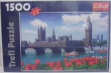 London Parliment Westminster Jigsaw Puzzle ~ 1500 Piece Trefl