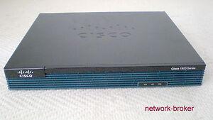 CISCO 1921/K9 Cisco1921/K9 Router 1900 Series 2x GBIT 2x EHWIC funktionsgeprüft
