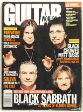 BLACK SABBATH GUITAR WORLD MAGAZINE OZZY OSBOURNE TONY IOMMI JULY 2001 VERY RARE