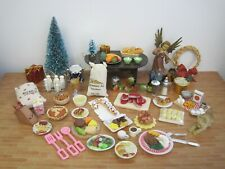 Dishes, Food, Miniatures, Dollhouse, For Barbie & Same Sz. Dolls Artisan #0011