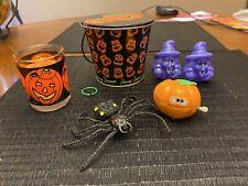 VINTAGE FANNY FARMER Pumpkins HALLOWEEN Tin And Vintage Halloween Toys Candle