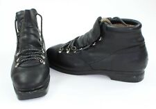 Vintage Skywalk Mens Size 12 Fabiano Superiore Black Ski Boots - Great Condition