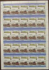 1936 LNER Class V2 4771 GREEN ARROW Train 50-Stamp Sheet (Leaders of the World)