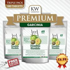 3 X Pure Garcinia Cambogia Extract MAX 1000mg Natural Weight Loss 70% HCA Diet