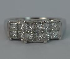 Princess Good Cut Natural White Gold Fine Diamond Rings