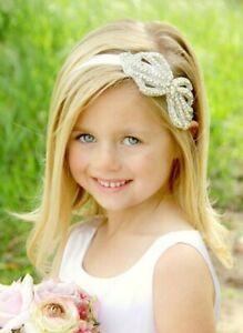 BRIDESMAID FLOWER GIRL HOLY COMMUNION HEADBAND HAIR ACCESSORY BOW RHINESTONE