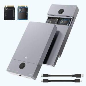 Rocketek USB Type C 10G to NVME Dual Bay NVME Docking Station, Dual Bay M.2 NVMe