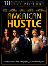 American Hustle: Christian Bale, Jennifer Lawrence(DVD+Digital Copy+UV, 2014,NEW