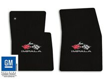 1963-1964 Chevrolet Impala - Black Classic Loop Carpet Floor Mats - Flags Logo